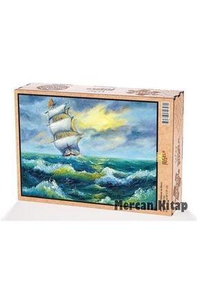 King Of Puzzle Yelkenli Ve Deniz Ahşap Puzzle 2000 Parça (mz50-mm) 0