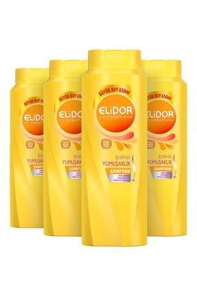 Elidor Ipeksi Yumuşaklık Şampuan 650 Ml X 4lü Set 0