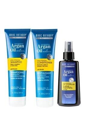Marc Anthony Argan Oil 3 Lü Set(şampuan 250 Ml + Saç Kremi 250 Ml+ Saç Bakım Yağı 120 Ml) 0