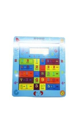 Ahi Ayaklı Ahşap Puzzle Eğitici Hesap Makinesi 0