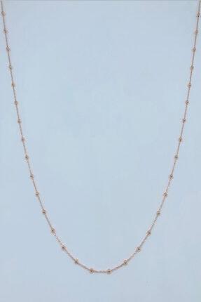 Artuklu Telkari Rose Kaplama Kadın Gümüş 50 Cm Sık Toplu Forse Zincir 0