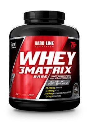 Hardline 3 Matrix Whey Protein Base Sütlü Çikolata 2300 Gr 0