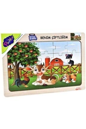 ONYIL Eğitici Öğretici Ahşap Benim Çiftliğim Puzzle 0