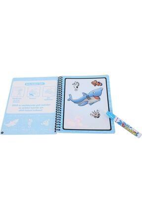 DEEMBRO Sihirli Boyama Kitabı Özel Kalemi Water Magic Boyama Su Altı Su Altı Dünyası 1