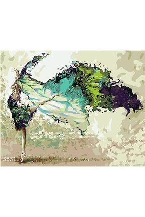PlusHobby Dansçı Kız Sayılarla Boyama Seti 40x50 Cm Tuval 0