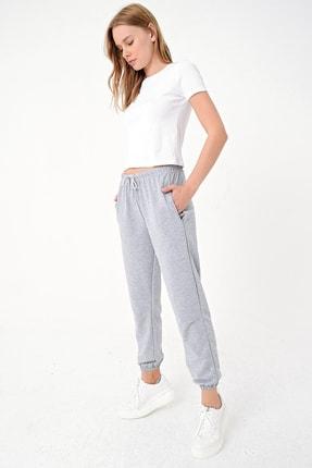Trend Alaçatı Stili Kadın Grimelanj Paçası Lastikli İki İplik Eşofman Altı ALC-Y2933 3