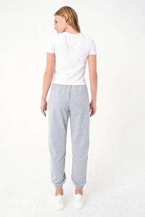 Trend Alaçatı Stili Kadın Grimelanj Paçası Lastikli İki İplik Eşofman Altı ALC-Y2933 4