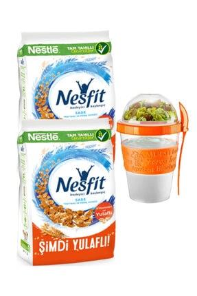 Nestle Sade Kahvaltılık Gevrek 1400 Gram ( Take And Go Müsli Kabı 600 Ml Hediye) 0