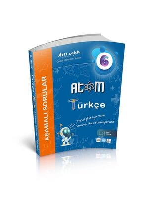 Artı Zeka Yayınları Artı Zeka 6. Sınıf Atom Beceri Temelli Türkçe Aşamalı Soru Bankası 0