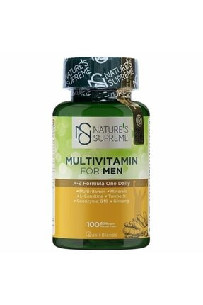 Natures Supreme Multivitamin For Men 100 Kapsül 0