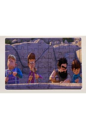 meyuhome Rafadan Tayfa Tasarımlı 35 Parça Ahşap Puzzle Yapboz 0