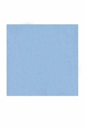 Kaşmir Kadın Mavi  Dikişsiz Düz Yazma 90 cm Bebe 26 0