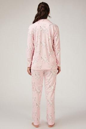 Happiness İst. Kadın Pembe Çiçekli Pijama Takımı GL00031 2