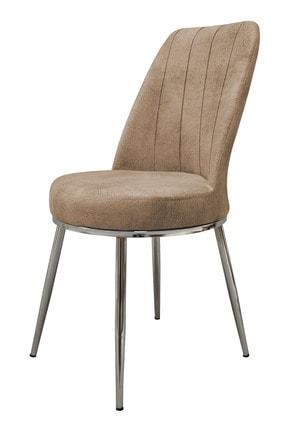 PRATİK DEKOR Krem Lıne Mutfak Sandalyesi 0