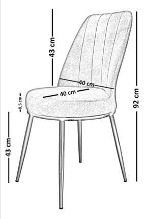 PRATİK DEKOR Krem Lıne Mutfak Sandalyesi 2