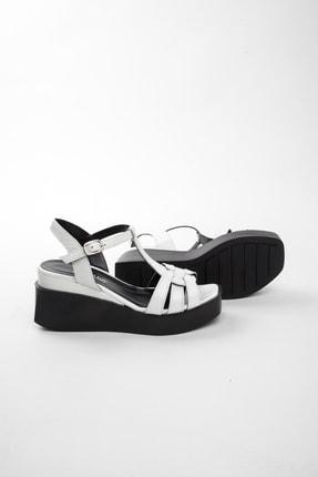 John May Kadın Beyaz Rugan Sandalet Po-012 20568 4