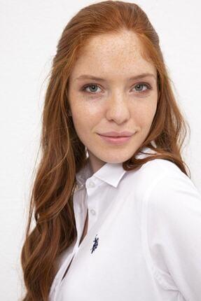 US Polo Assn Kadın Beyaz Gömlek 1