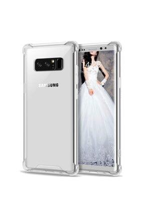 Samsung Zengin Çarşım Galaxy Note 8 Ultra Ince Şeffaf Airbag Anti Şok Silikon Şeffaf Kılıf 1