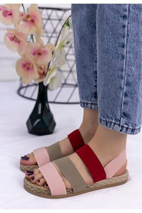Erbilden Kadın Vizon Wendy Renkli Sandalet 2