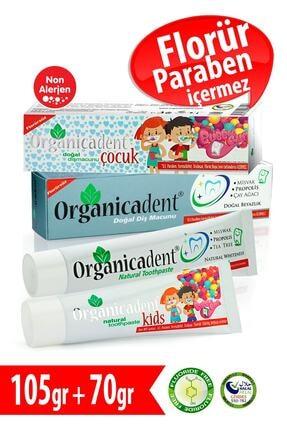 Organicadent Florürsüz Doğal Çocuk Diş Macunu 50ml + Doğal 75ml X1 0