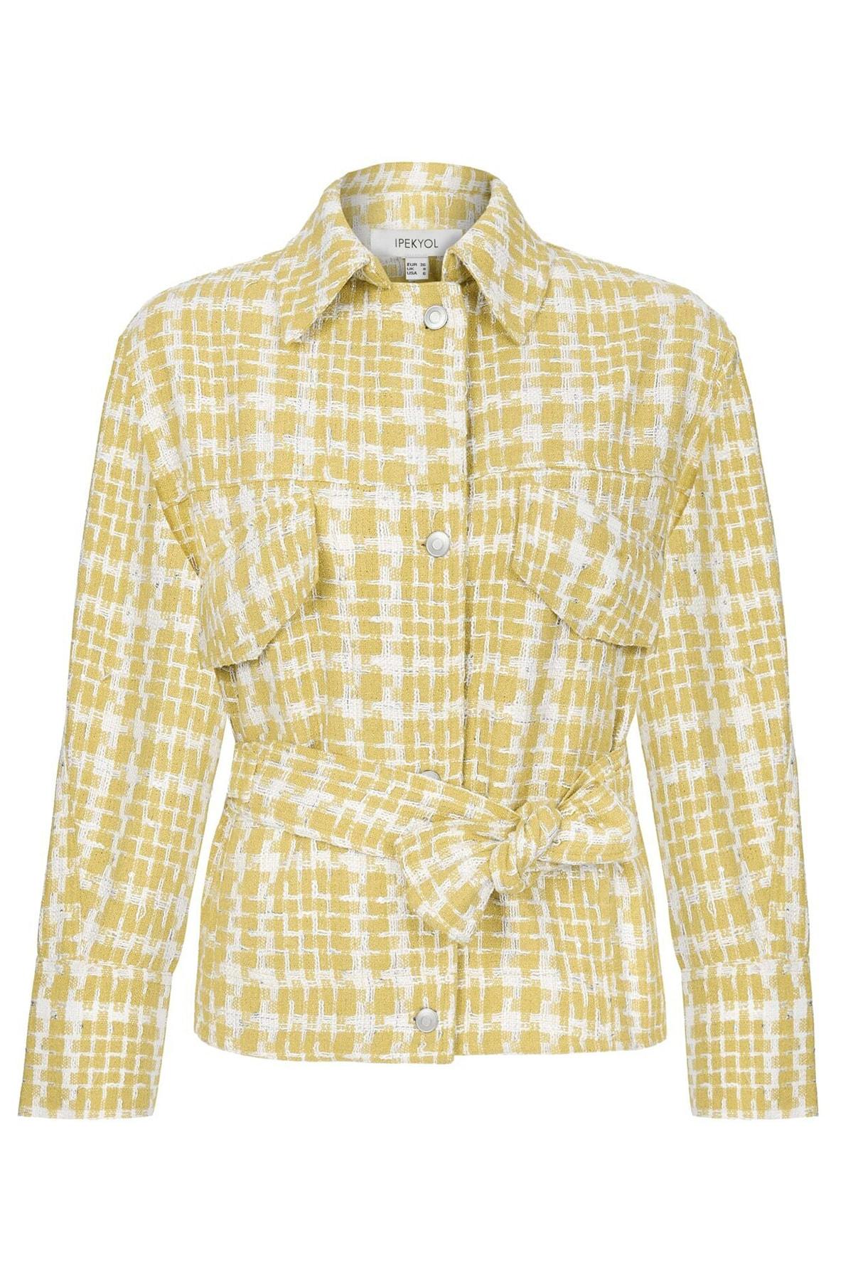 İpekyol Kadın Sarı Kuşaklı Tüvit Ceket IS1200005055009 3