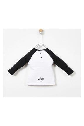 Panço Erkek Bebek Beyaz Uzun Kollu T-shirt 19217083100 1