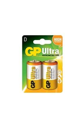 GP Batteries Pil Büyük Boy Ultra Alkalıne (d Boy Kalın Pil) 2 Adet Gp 13au 0