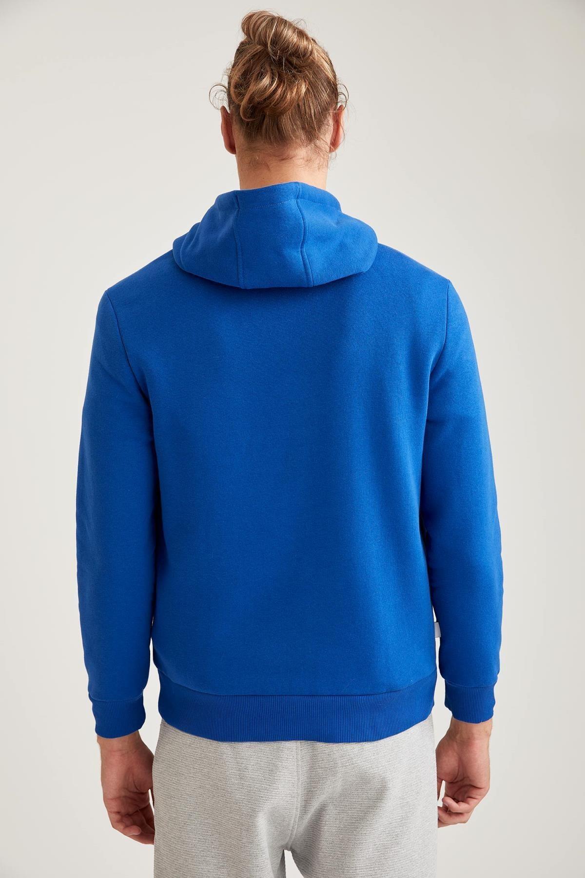 Defacto Fit Erkek Nba Lisanslı Unisex Kapüşonlu Slim Fit Sweatshirt 3