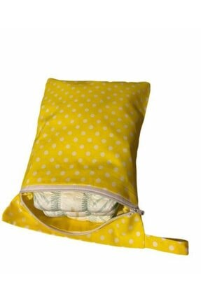 MOMSTAR Bebek Sarı Bez Çantası 0