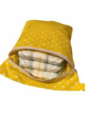 MOMSTAR Bebek Sarı Bez Çantası 1