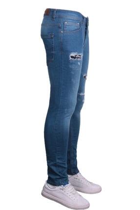 Erkek Mavi Denim Spor Giyim 83370