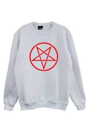 fame-stoned Unisex Kırmızı Baskılı Sweatshirt 3