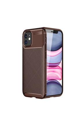 KNY Apple Iphone 12 Kılıf Karbon Desenli Lux Negro Silikon+cam Ekran Koruyucu 0