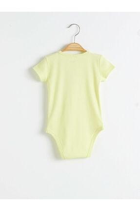LC Waikiki Erkek Limon Yeşili Bebek Body & Zıbın 0WEV70Z1 1