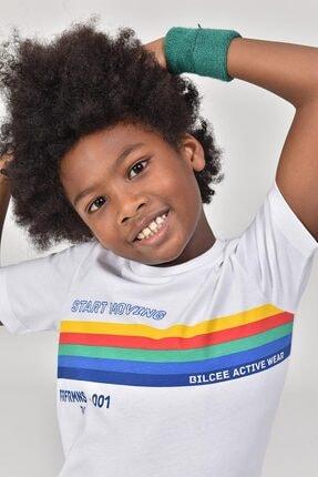 bilcee Unisex Çocuk Beyaz T-Shirt GS-8145 2