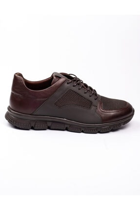 Libero 3599 Faylon Kahverengi Deri Erkek Günlük Ayakkab Kahverengi-42 1