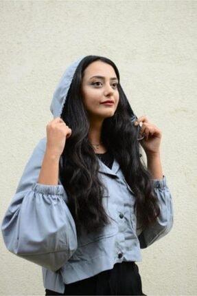 Simsibutik Kadın Gri Yağmurluk 0