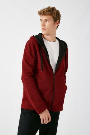 Koton Erkek Bordo Sweatshirt 1KAM71089LK 0
