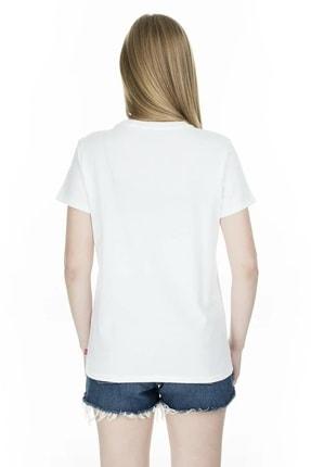 Levi's Kadın Beyaz The Perfect 90'S Serif T-Shirt 17369-0969 1