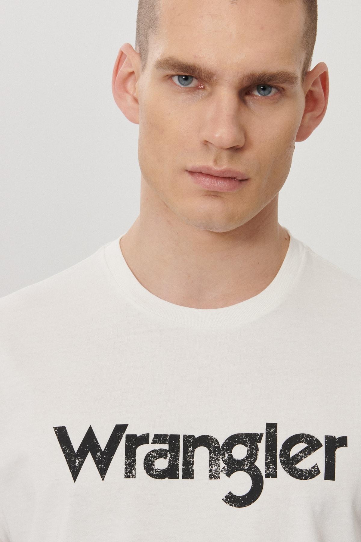 Wrangler Regular Fit Bol Kesim Sıfır Yaka %100 Koton Logolu Tişört 1
