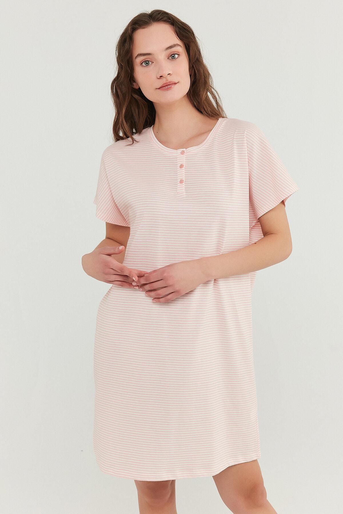 Penti Somon Pretty Striped Elbise 0