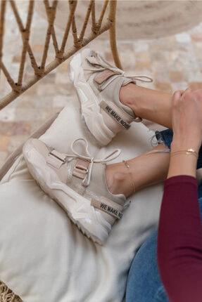 ANGELİNA JONES Kadın Nude Multi Sneakaers 3