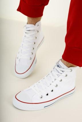 Muggo Unisex Beyaz Keten Ayakkabı Mgcrs37 1