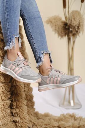 Oksit Infinite Renk Detaylı Fileli Kalın Taban Kadın Sneaker 1