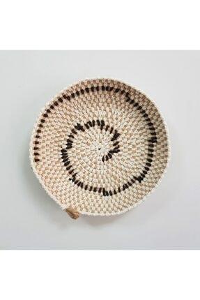 Limenis Afrika Etnik Üçlü Hasır Tabak Seti Bohem Afrikan Sepeti Duvar Dekoru 1