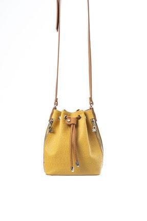 Benetton Kadın Sarı Çapraz Çanta Bnt472 3