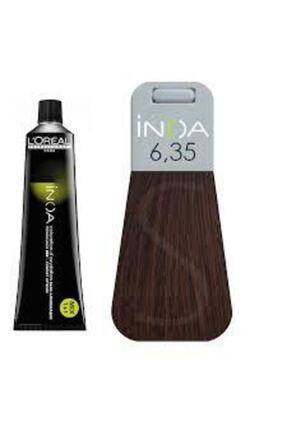 İNOA 6.35 Numara Koyu Kumral Dore Akaju Saç Boyası 60 Ml (oksidansız) 0