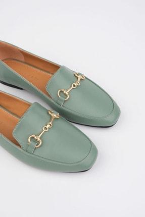 Marjin Kadın Yeşil Loafer Ayakkabı Bekla 4