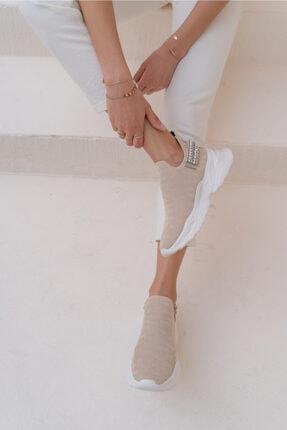 ANGELİNA JONES Costel Kadın Nude Trıko Taşli Ayakkabi 0