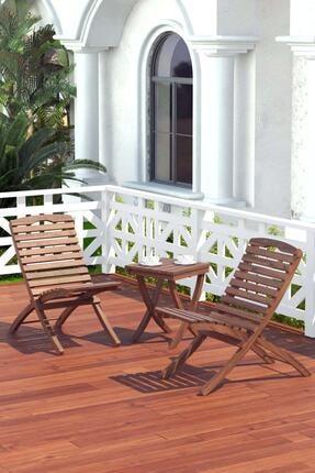 Meya Dekor Bahçe Balkon 2+1 Katlanabilir Masa - Sandalye Seti Bahçe Masası Bahçe Sandalyesi 0